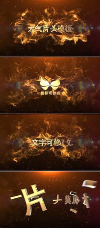 震撼3d金色标题字幕片头模板