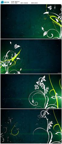 花纹开放生长动画视频