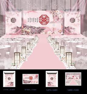 婚礼婚庆舞台背景模板