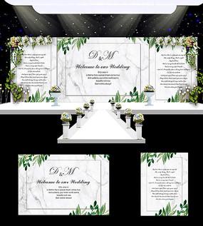 婚庆婚礼舞台背景模板