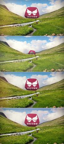 户外风景logo演绎ae模板