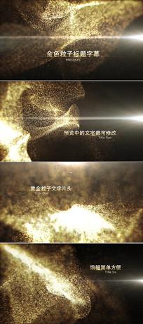 金色粒子标题字幕开场片头视频模板