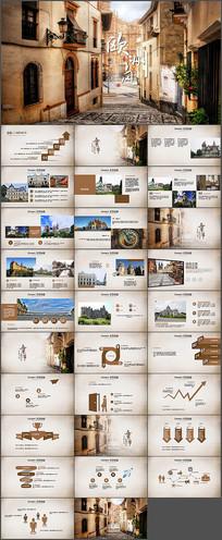 欧洲旅游电子相册PPT