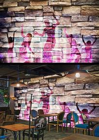 摇滚音乐工装KTV酒吧背景墙