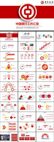 中国银行PPT模板 pptx