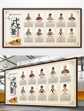 中医文化中华古代十大名医展板