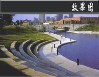 白莲泾公园河岸效果图