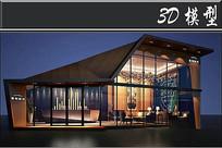 创意透明造型门店门头模型