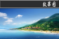 东海岸园林式商务度假酒店鸟瞰