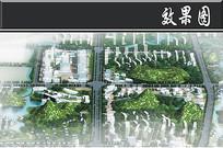 桂林城市新区节点鸟瞰图