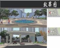 杭州某小区喷泉分析图