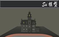 黑色古堡模型