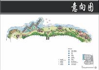 湖景观西北岸景观局部平面图