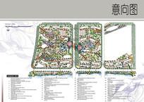 居住区景观设计彩平图