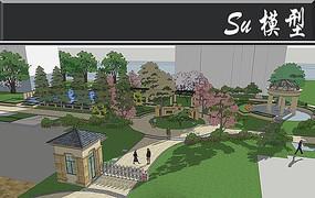 居住区入口模型