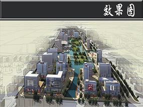 某滨海新城设计商业区效果图