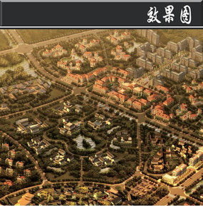 某滨水旅游区民宿文化街鸟瞰图