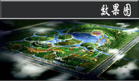 某植物公园景观规划鸟瞰图