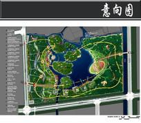 某植物公园景观规划总平面图
