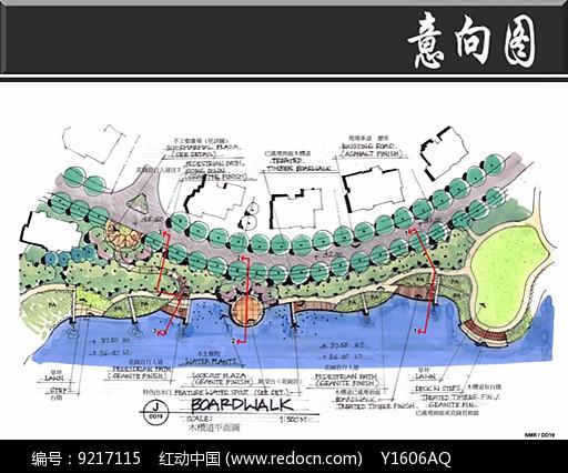 南京某别墅木栈道平面图