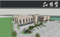 欧式米色环卫保洁宿舍模型
