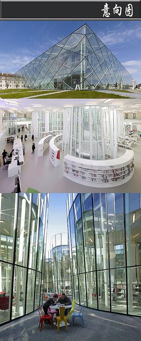 全玻璃体创意书店意向图