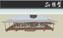全透明创意别墅模型 skp