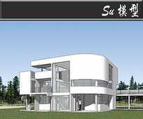 萨兹曼别墅模型 skp