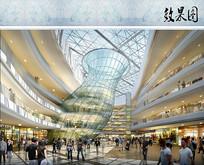 商城内部建筑设计效果图