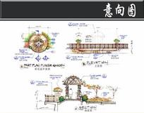 上海某小区彩花园节点图