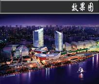 上海渔人码头夜景鸟瞰图 JPG