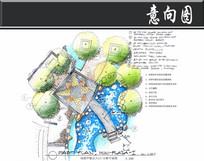 深圳某小区小桥平面图