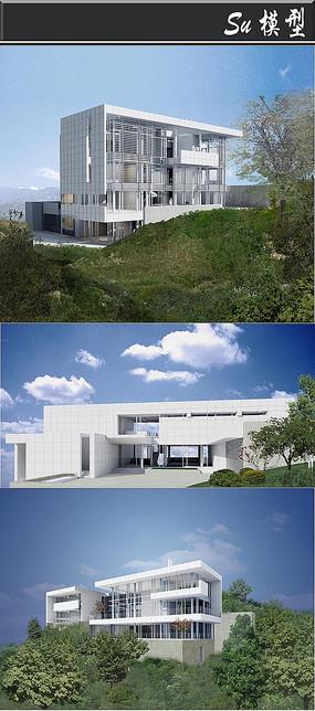 深圳全白简欧住宅建筑模型