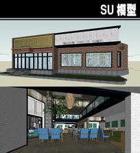室内小吃街SU模型