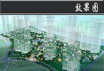 水云湾小区景观鸟瞰图