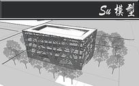树杈形状创意外墙图书馆建筑