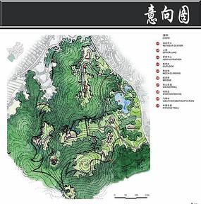 武汉某半岛旅游区培训中心平面