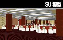 宴会厅内部SU模型