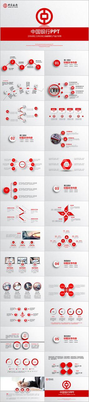 中国银行ppt模板