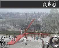 重庆儿童公园冒险桥效果图 JPG