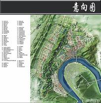 重庆某新城城市设计平面图