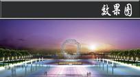 主屿湖都市公园区效果图