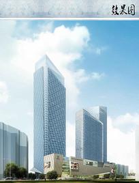 综合商业区建筑效果图 JPG