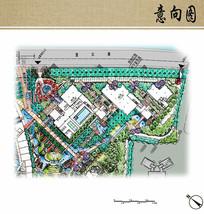 办公区景观设计平面图 JPG