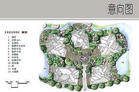 别墅景观设计手绘平面图