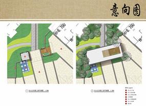 别墅区次入口方案平面图