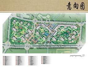 别墅区景观规划设计总平面图
