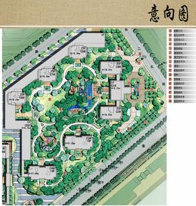 别墅区景观设计平面图