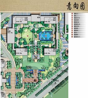 别墅区绿地设计平面图