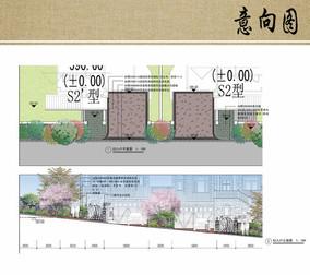 别墅区入户景观设计方案
